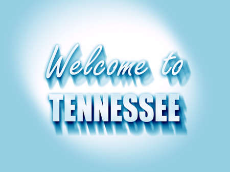 tennessee: Welcome to tennessee with some smooth lines Stock Photo