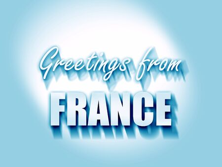 highlights: Greetings from france card with some soft highlights Stock Photo