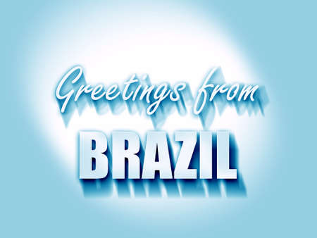 highlights: Greetings from brazil card with some soft highlights
