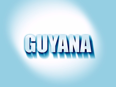 guyana: Greetings from guyana card with some soft highlights