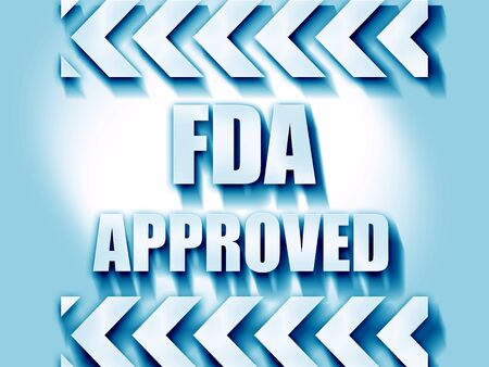 sanctioned: FDA approved background with some smooth lines