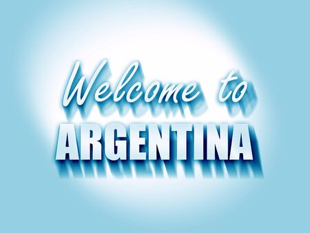 argentine: Welcome to argentine card with some soft highlights