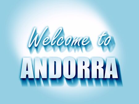 tourism in andorra: Welcome to andorra card with some soft highlights
