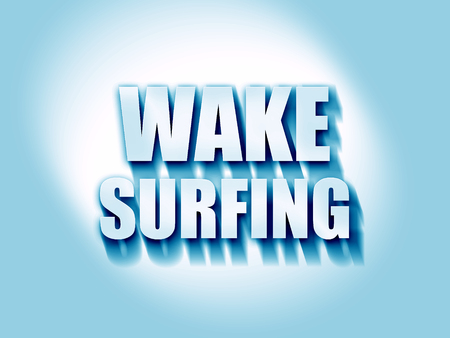 surf team: wake surfing sign background with some soft smooth lines