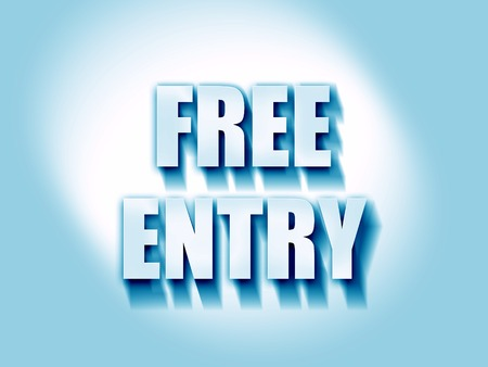 freebie: Free entry sign with some soft smooth lines