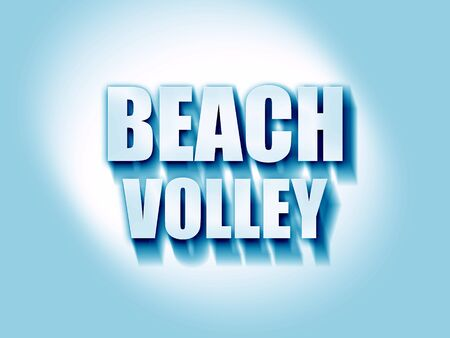 beach volley sign with some soft smooth lines Reklamní fotografie