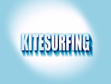 kite surfing: kitesurfing sign background with some soft smooth lines