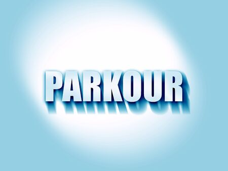 parkour: parkour sign background with some soft smooth lines