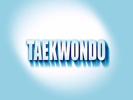taekwondo: taekwondo sign background with some soft smooth lines