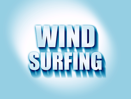 wind surfing: wind surfing sign background with some soft smooth lines