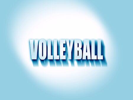 volleyball teken achtergrond met sommige zachte vloeiende lijnen Stockfoto