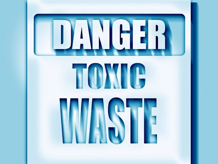 toxic waste: Toxic waste sign with some smooth lines