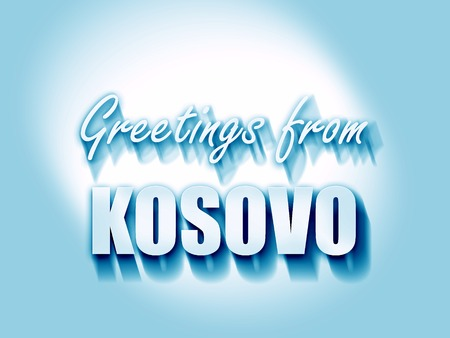 kosovo: Greetings from kosovo card with some soft highlights