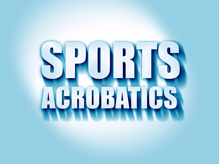 acrobatics: sports acrobatics sign background with some soft smooth lines