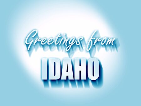 idaho: Greetings from idaho with some smooth lines Stock Photo