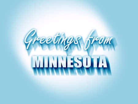 minnesota: Greetings from minnesota with some smooth lines Stock Photo
