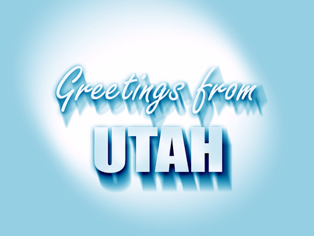utah: Greetings from utah with some smooth lines Stock Photo