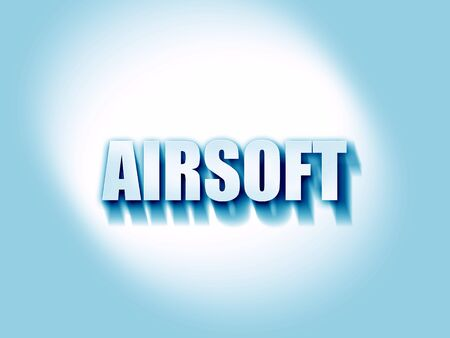 airsoft: airsoft sign background with some soft smooth lines Stock Photo