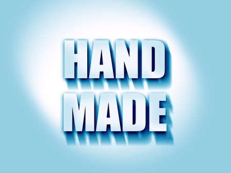 artisan: hand made sign with some smooth lines Stock Photo