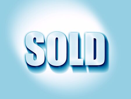 selling service: sold sign background with some soft smooth lines