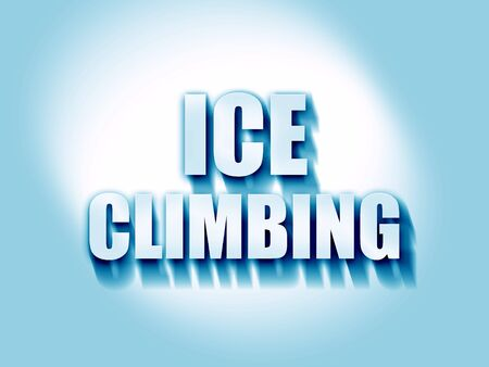 ice climbing: ice climbing sign background with some soft smooth lines