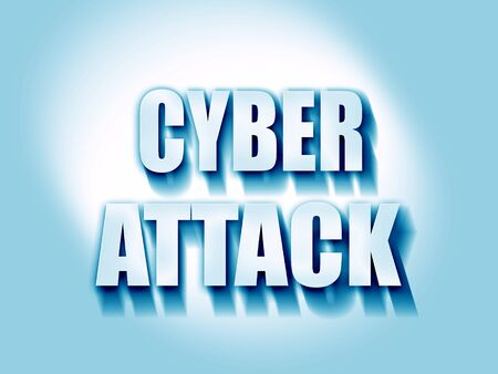capitalized: Cyber warfare background with some smooth lines