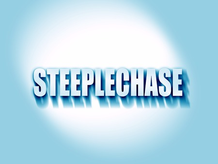 steeplechase: Steeplechase sign background with some soft smooth lines Stock Photo