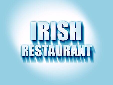 irish pub label design: Delicious irish cuisine with some smooth lines