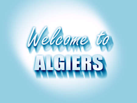 algiers: Welcome to algiers with some smooth lines Stock Photo