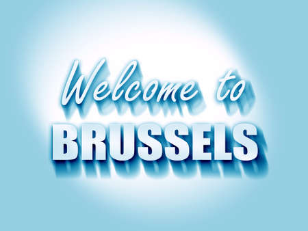 brussels: Welcome to brussels with some smooth lines Stock Photo