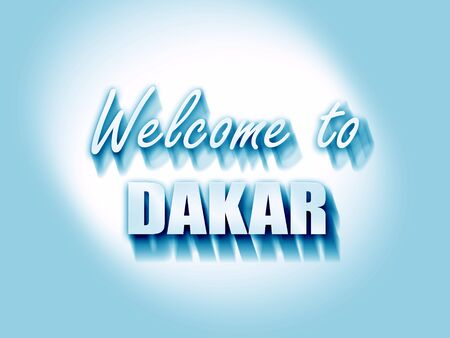 dakar: Welcome to dakar with some smooth lines Stock Photo