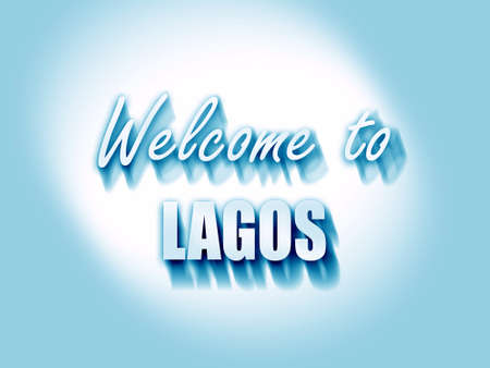 lagos: Welcome to lagos with some smooth lines Stock Photo