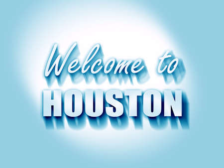 houston: Welcome to houston with some smooth lines Stock Photo
