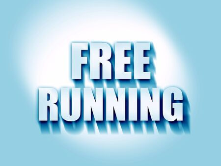 free running sign background with some soft smooth lines