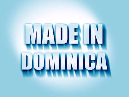 dominica: Made in dominica with some soft smooth lines Stock Photo