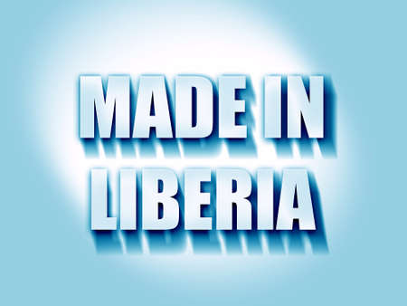 commerce and industry: Made in liberia with some soft smooth lines Stock Photo