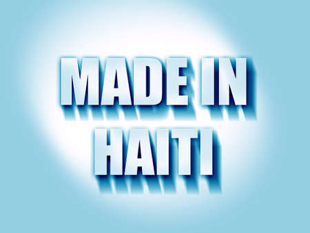 haitian: Made in haiti with some soft smooth lines Stock Photo