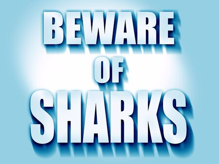 sighting: Beware of sharks sign with some smooth lines