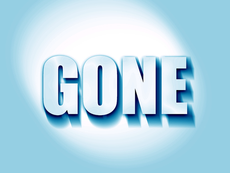 gone: gone sign background with some soft smooth lines Stock Photo