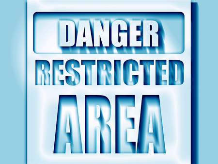 allowed to enter: Restricted area sign with some smooth lines Stock Photo