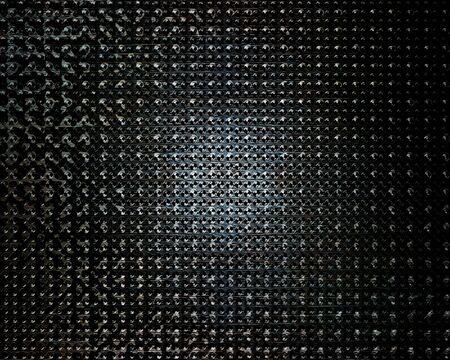 brushed aluminium: Brushed aluminium metal plate with some reflection