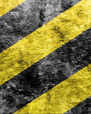 highlights: Black and yellow hazard lines with soft highlights
