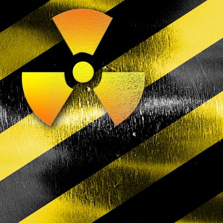 uranium: Nuclear danger sign on a grunge background
