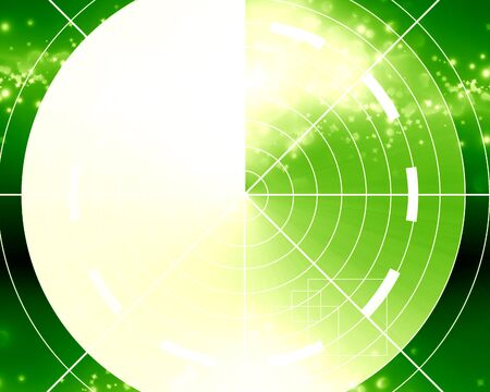 highlights: Green radar screen with some soft highlights Stock Photo