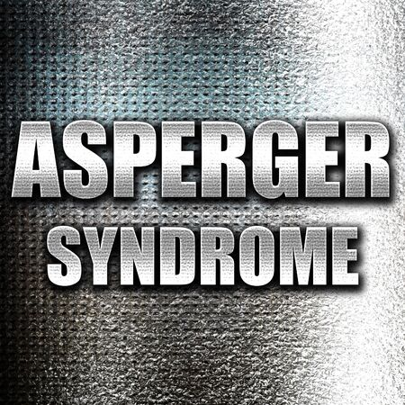 asperger syndrome: Grunge metal Asperger syndrome background with some soft smooth lines