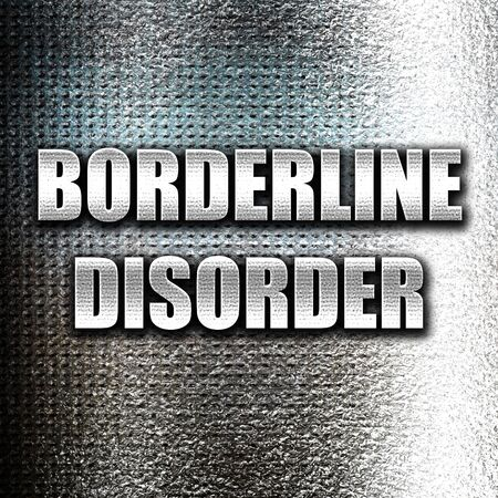 precaution: Grunge metal Borderline sign background with some soft smooth lines