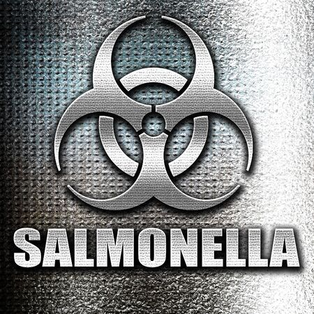 salmonella: Grunge metal Salmonella concept background with some soft smooth lines Stock Photo