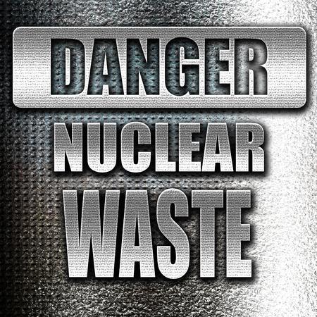 uranium radioactivity: Grunge metal Nuclear danger background on a grunge background