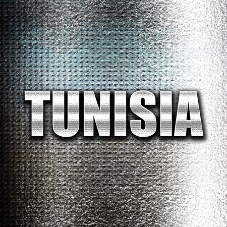 grunge metal: Grunge metal Greetings from tunisia card with some soft highlights