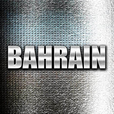 bahrain: Grunge metal Greetings from  bahrain card with some soft highlights